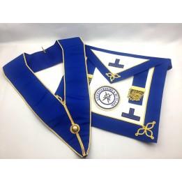 C029 Craft Prov U/d Apron & Collar Lambskin, Pocket (incl Badge)