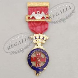 A013 Rose Croix Pmws Presentation Breast Jewel Name & Number