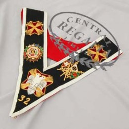 A026  Rose Croix 32nd Degree Collar Hand Embroidered