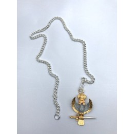 A035 33rd Degree Inspector General Silver  Chain For Eagle