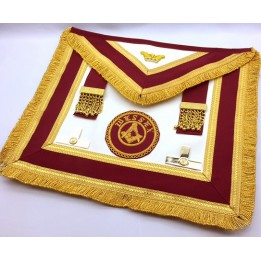 Athelstan  Provincial  Apron  - Lambskin - With Badge