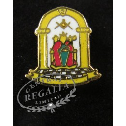 Athelstan Lapel Badge Enamelled With Clutch Fitting