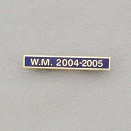 Ribbon Date Bar Gilt Letters On Blue Enamel