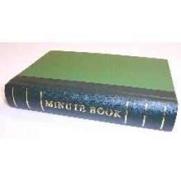 Minute Book 250pp Green Binding