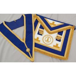 C025 Craft Prov Full Dress Apron & Collar. Best  Emb.levels,pocket (incl. Badge)