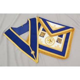 C026 Craft Prov F/d Apron & Collar (incl.  Badge) - Imitation Lambskin