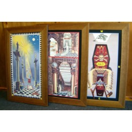 F016 Set Of 3 Tracing Boards Framed-  (framed)