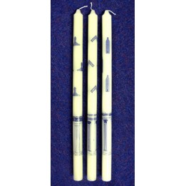 F034 - 3 Sets Of 3 Craft Wax Emblematic Candles (total 9 Candles) Wm-sw-jw