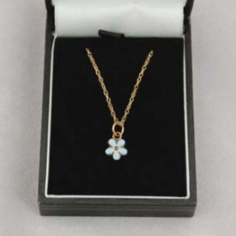 G075 Forget Me Not Necklace 9ct Gold
