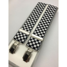 Masonic Braces - Chequered Black & White