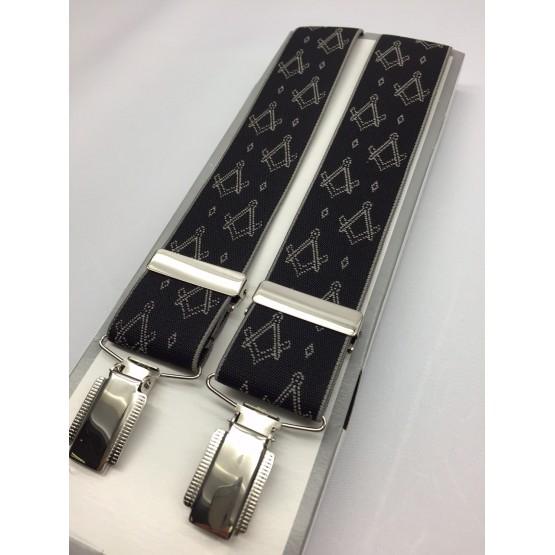 G610  - Masonic Braces - S & C  On Black