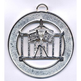 L011 Allied Masonic Degrees Officer Collar Jewel Silverplated (without Name)