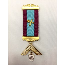 M013 Mark Pm Breast Jewel As M012 With Name & Number Of Lodge In Blue