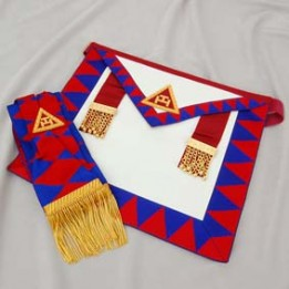 R007 Ra Principals Apron & Sash Best Lambskin Quality Embroidered Taus