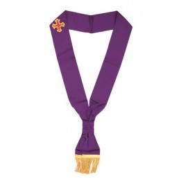 X001 Rcc Sash For Knight Companion     Purple Plus Embriodered Emblem