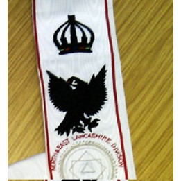 X024 Khs Sash For Divisional Officer    Hand Embriodered (with Crown)