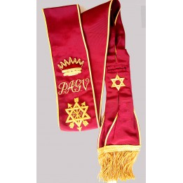 Z025 Osm Grand Officers Sash Hand Embroidered