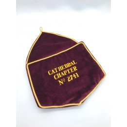 R102 Royal Arch Alms Bag With Embroidered Chapter Number